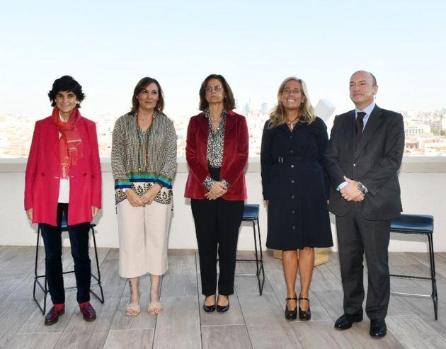 María Benjumea, fundadora de South Summit; Clara Sanz, secretaria general de Formación Profesional del...