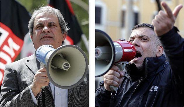 Roberto Fiore a sx e Giuliano Castellino a