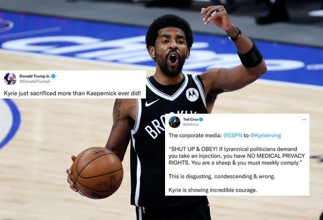 Le meneur de jeu NBA des Brooklyn Nets Kyrie Irving refuse de se faire vacciner contre le Covid. Une...