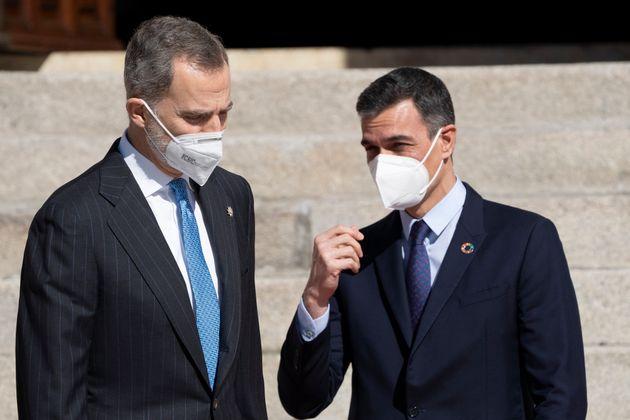 Pedro Sánchez junto a Felipe