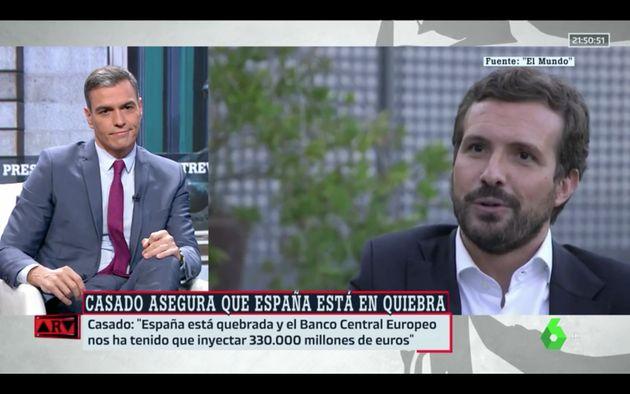 Pedro Sánchez reacciona a las palabras de Pablo Casado sobre