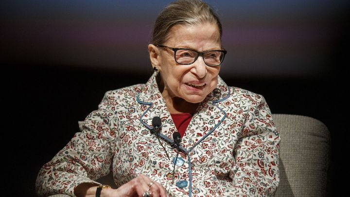 It was not unique for Supreme Court Justice Ruth Bader Ginsburg, seen in 2019, to share her opinions and have them used by someone else without attribution to her, said Sotomayor.