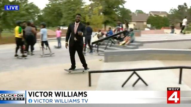 TV Reporter Goes Viral For 'Most Impressive Live Shot' Ever Atop A Skateboard.jpg