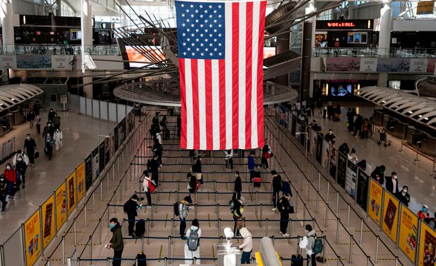 Passengers at JFK Airport in New
