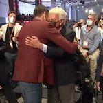 El PSOE cierra la herida: González y Zapatero se abrazan con Sánchez con todo el partido en