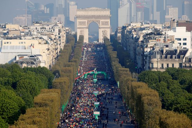 The Paris marathon is again after two and a half years of absence