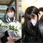 이재영·이다영 쌍둥이 자매가 그리스 도착 후 구단의 환영을 받았고, 한국을 떠날 때와 달리 아주 밝아