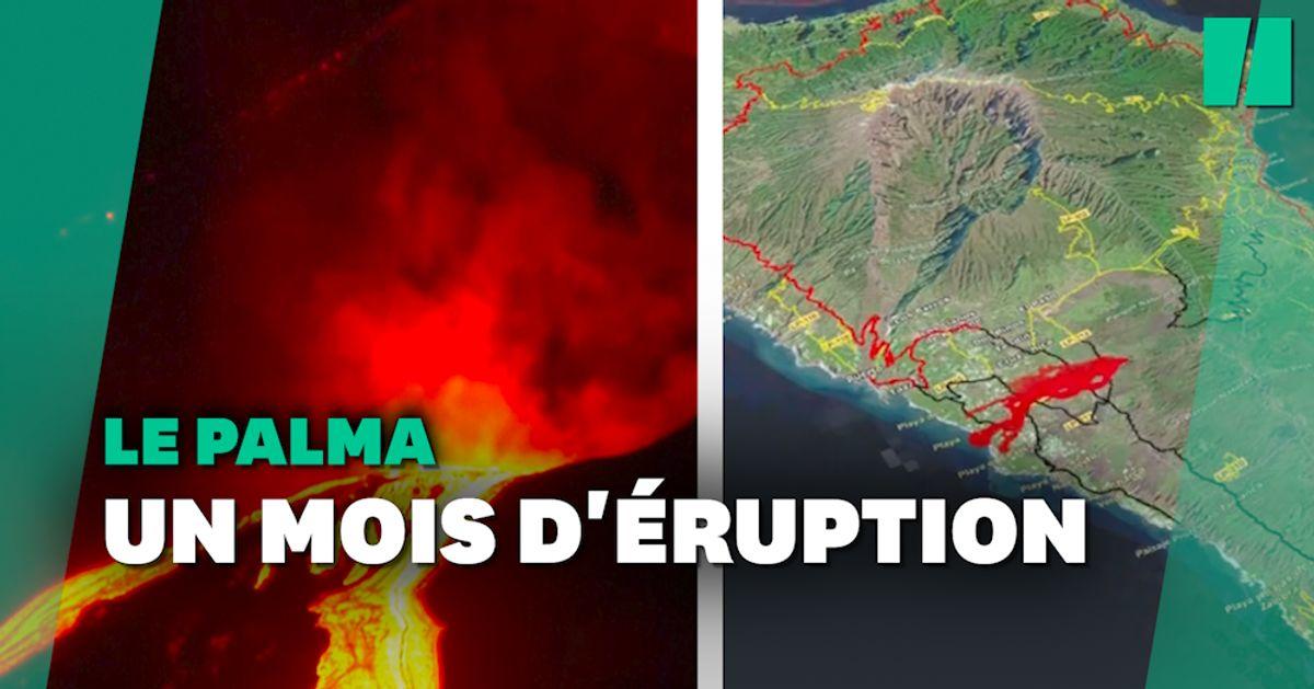 Un mois d'éruption qui a changé le paysage de La Palma