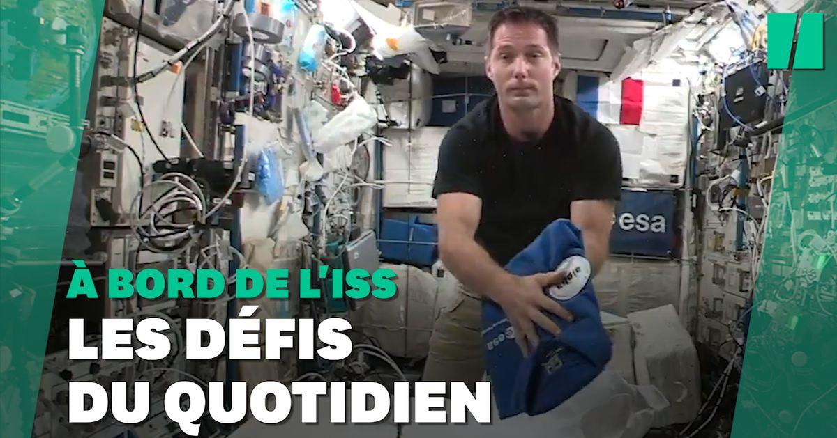 La galère de Thomas Pesquet pour plier ses vêtements dans l'espace