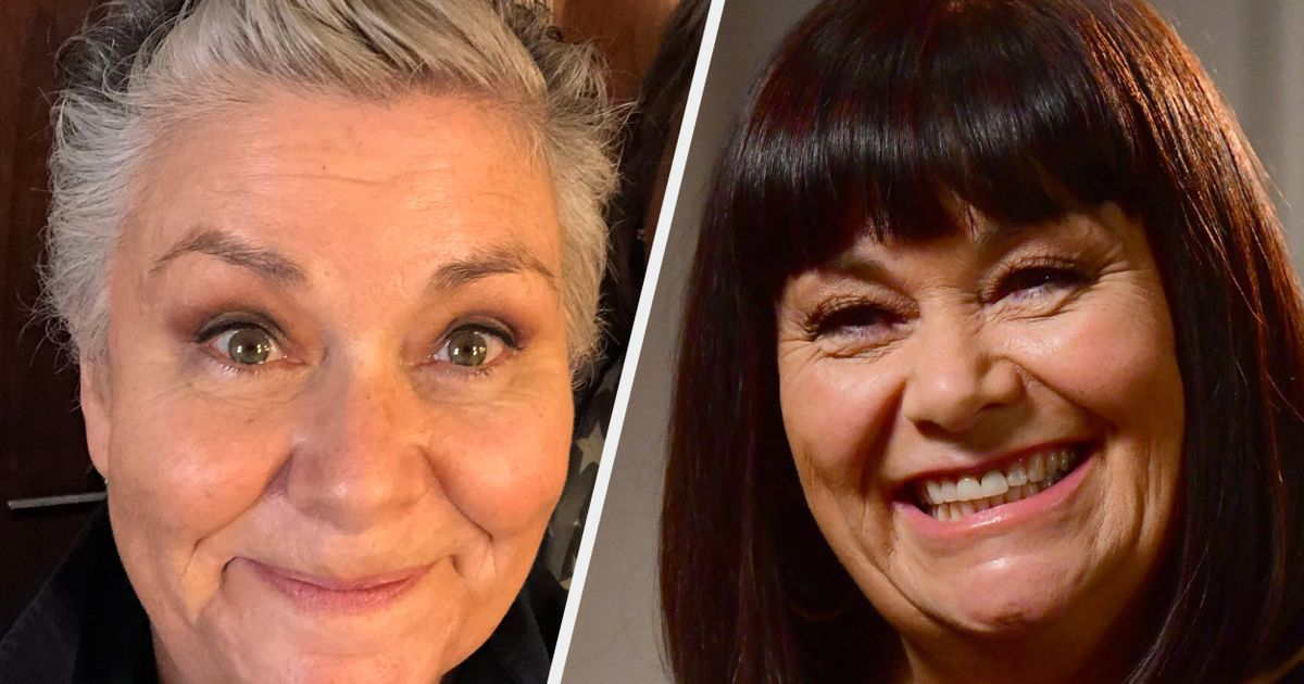 Dawn French Has A Pretty Unconventional Way Of Maintaining Her New Short Haircut
