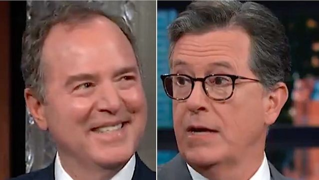Stephen Colbert Tells Rep. Adam Schiff What Russian Oligarch Revealed About Trump 'Pee Tape'.jpg