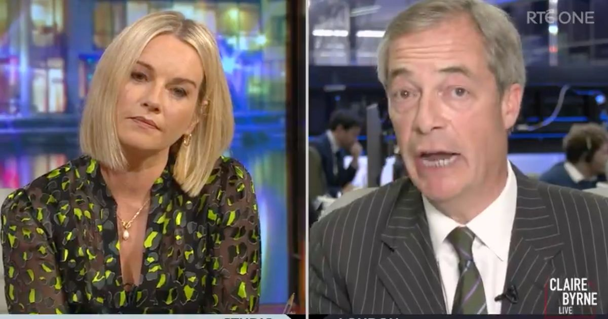 Nigel Farage Gets Completely Owned On Irish TV After Saying 'Up The RA'
