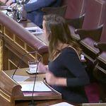 Una diputada tiene que cortar su intervención en el Congreso por lo que ha
