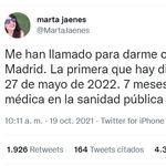 Una cita en la sanidad pública de Madrid levanta la indignación de muchos con las listas de