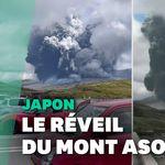 La spectaculaire éruption du Mont Aso au