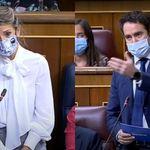 García Egea le pide datos a Yolanda Díaz y lo que hace ella ella trae cola en