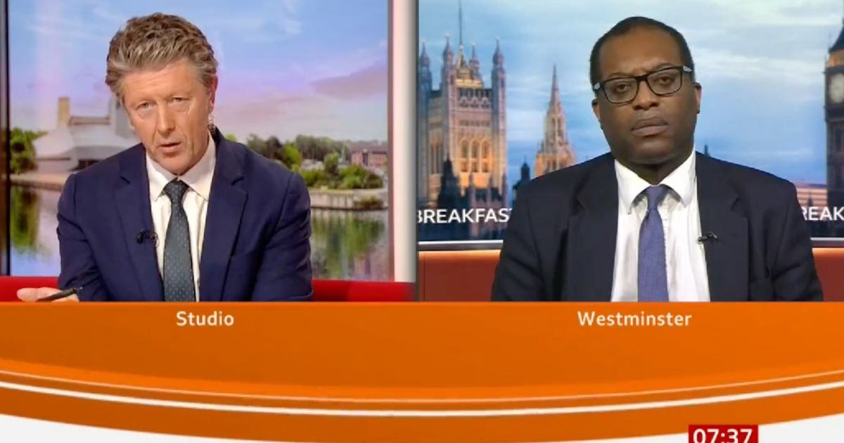 BBC Breakfast's Charlie Stayt Skewers Kwarteng Over The Government's Covid Policy