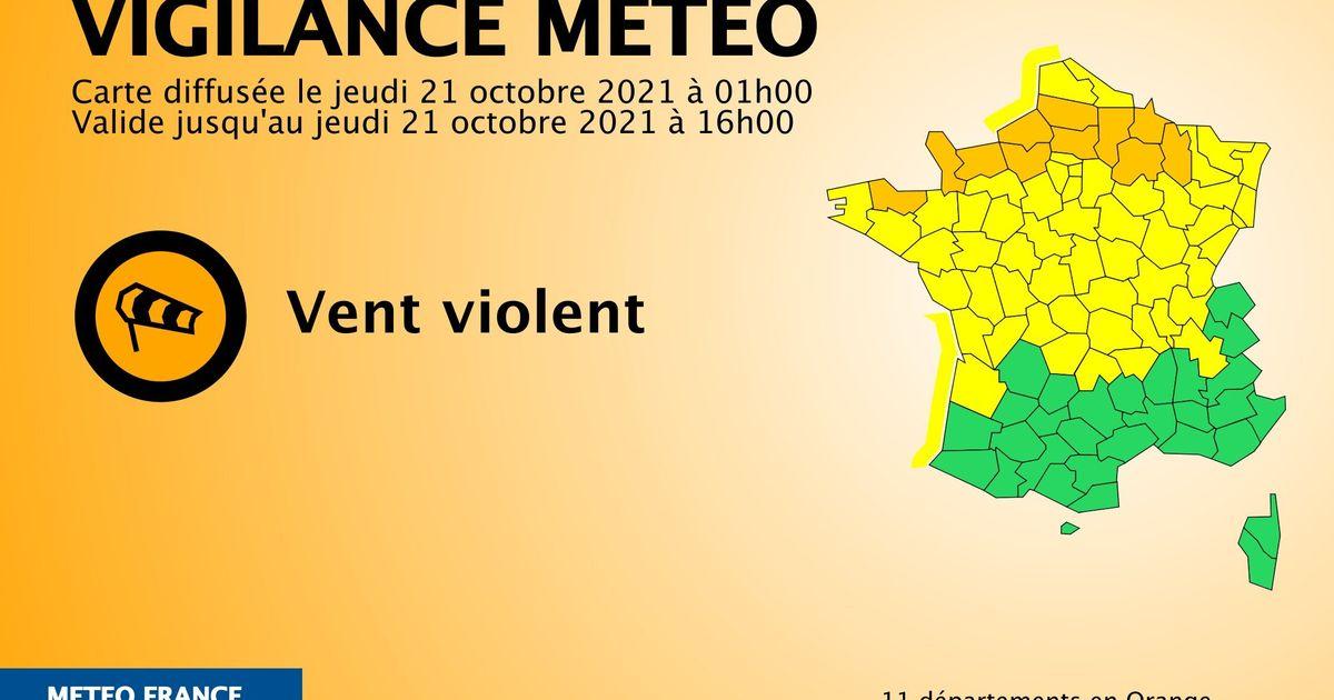 11 départements en vigilance orange vents violents