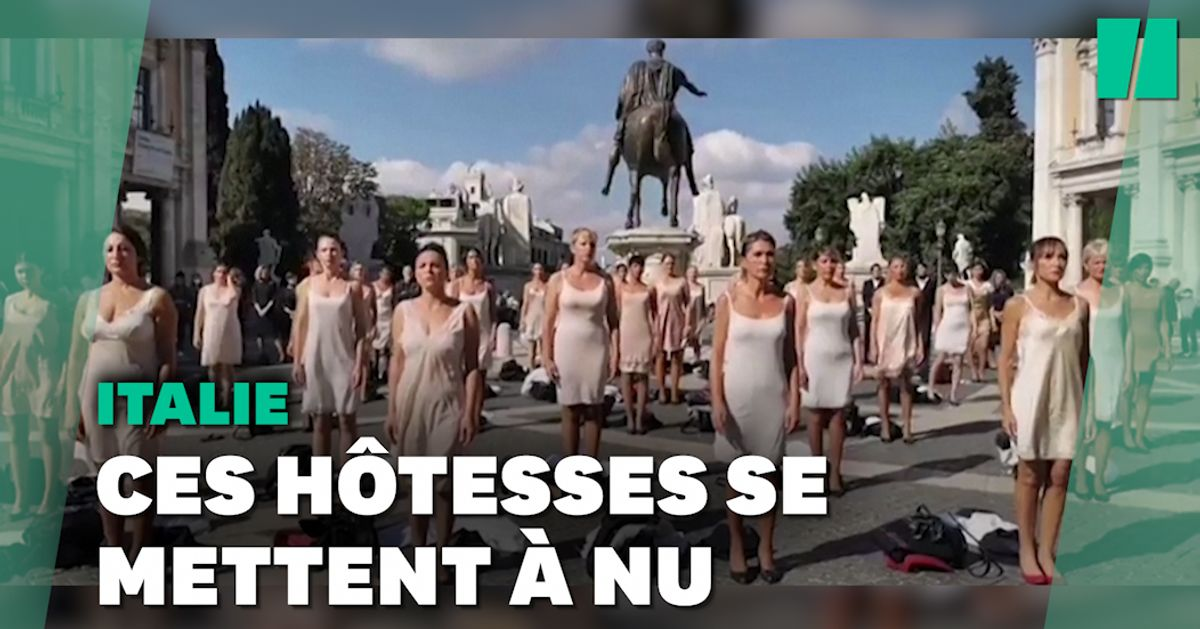 Ces hôtesses de l'air se déshabillent pour protester contre leur employeur