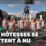 Ces hôtesses de l'air se déshabillent pour protester contre leur