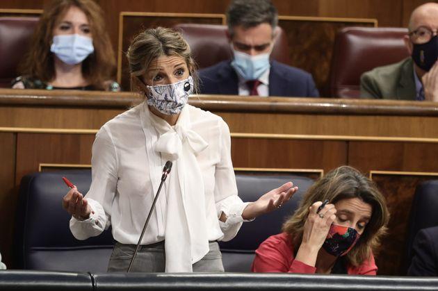 Yolanda Díaz tiene un inesperado detalle con Teodoro García Egea y las redes aplauden su educación