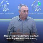 Baldoví convierte en 'trending topic' a Espinosa de los Monteros por esta frase sobre